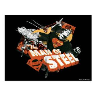 Man of Steel Collage Postcard