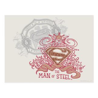 Man of Steel, Drawn with Crown Postcard