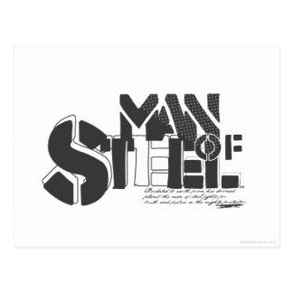 Man Of Steel Letters Postcard