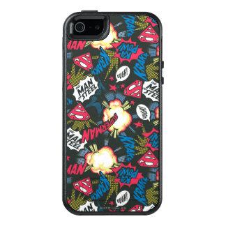 Man of Steel Logo Pattern OtterBox iPhone 5/5s/SE Case