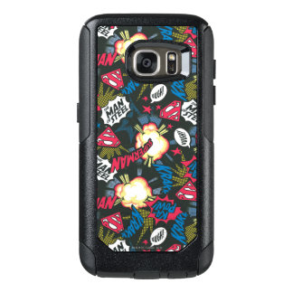 Man of Steel Logo Pattern OtterBox Samsung Galaxy S7 Case