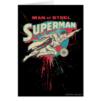 Man of Steel paint splatter Card