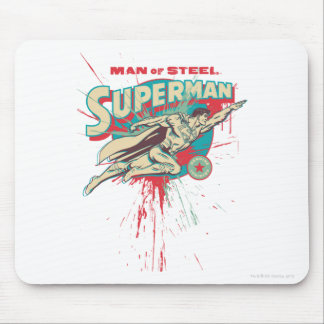 Man of Steel paint splatter Mouse Pad