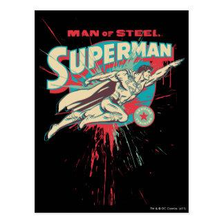 Man of Steel paint splatter Postcard