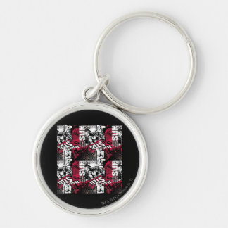 Man of Steel Red Pattern Key Ring