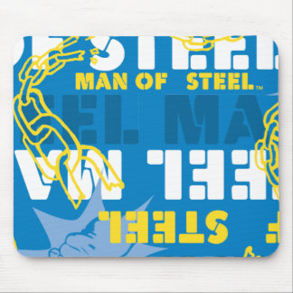 Man of Steel Yellow and Blue Mouse Mat