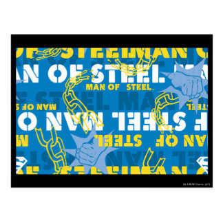 Man of Steel Yellow and Blue Postcard