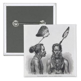 Man of the Ruk Islands 15 Cm Square Badge