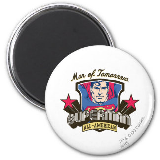 Man of Tomorrow 6 Cm Round Magnet