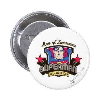 Man of Tomorrow 6 Cm Round Badge