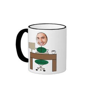 Man Office Picstickle Ringer Mug