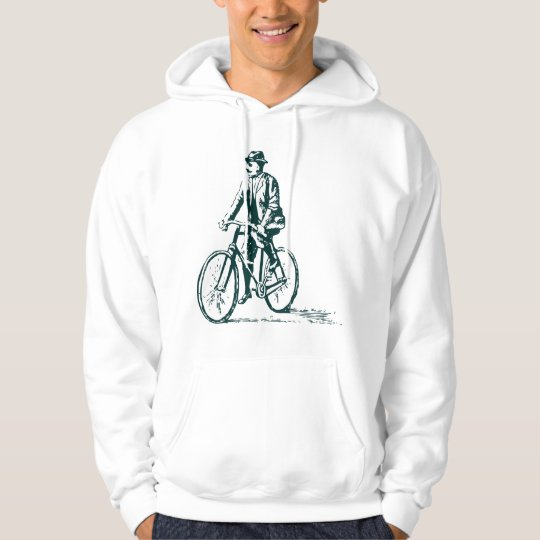 Man on a Bike - Dark Green Hoodie