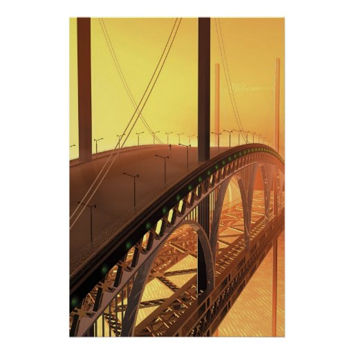 Man on a bridge poster