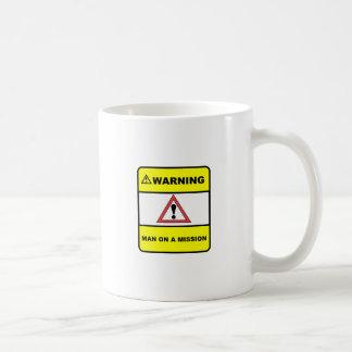 Man on a mission basic white mug