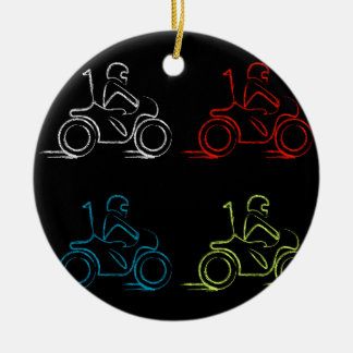 Man on a scooter christmas ornament