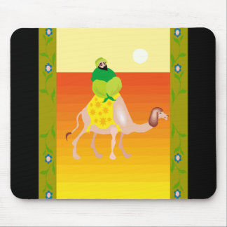 Man on camel mouse mat