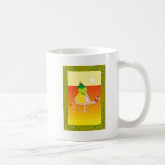 Man on camel basic white mug