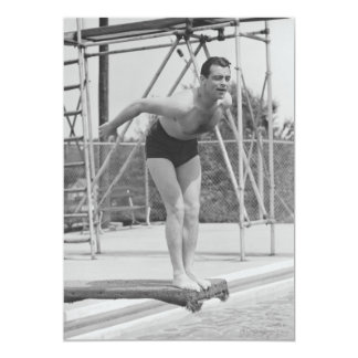 Man on Diving Board Card