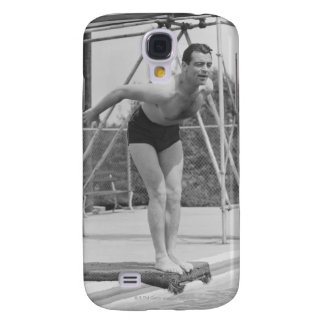 Man on Diving Board Galaxy S4 Case