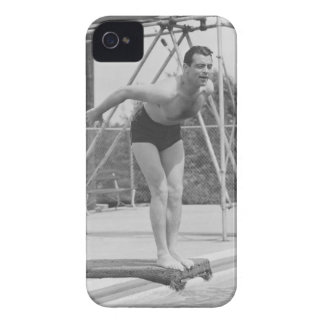 Man on Diving Board iPhone 4 Covers