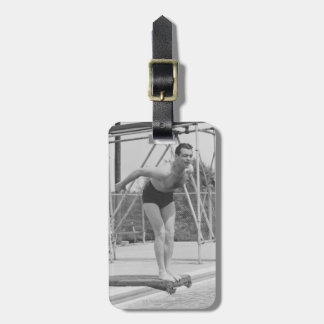 Man on Diving Board Luggage Tag