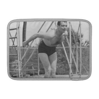 Man on Diving Board MacBook Sleeve