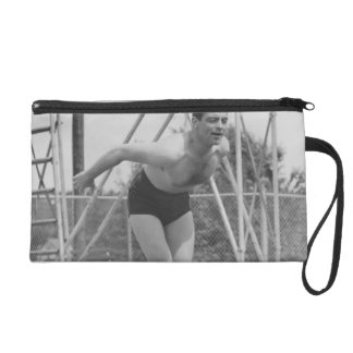 Man on Diving Board Wristlet
