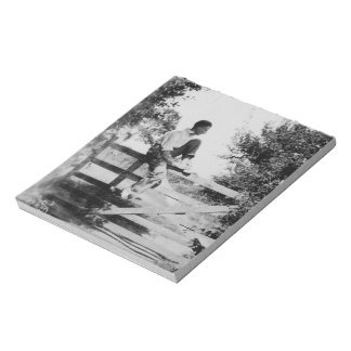 Man On Gate Old Image - 40 Page Notepad