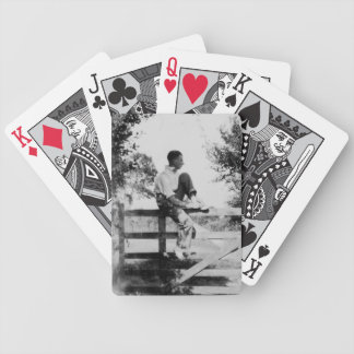 Man On Gate Old Image - Bicycle Poker Cards