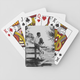 Man On Gate Old Image Standard Playing Cards