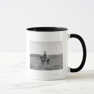 Man on Horse with Slain Antelope Photograph Mug