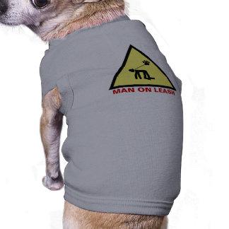 Man on leash shirt