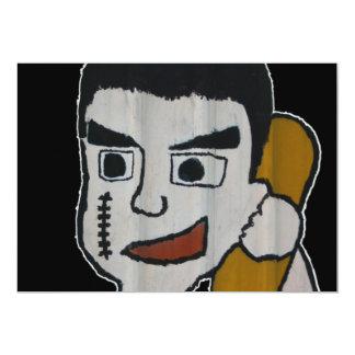Man on phone 13 cm x 18 cm invitation card