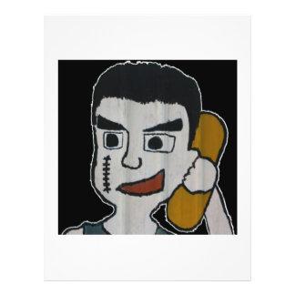 Man on phone flyers