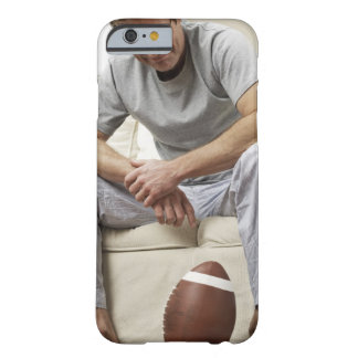 Man on Sofa with Football Barely There iPhone 6 Case