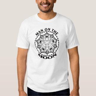 Man On The Moon Comic Logo White T-Shirt