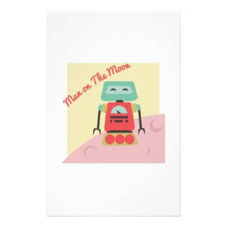 Man On The Moon Personalized Stationery