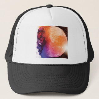 man on the moon trucker hat