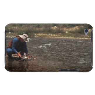 Man panning for gold on the South Platte River Barely There iPod Case