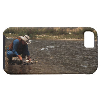 Man panning for gold on the South Platte River Tough iPhone 5 Case