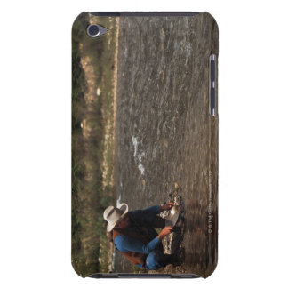 Man panning for gold on the South Ple River Barely There iPod Cover