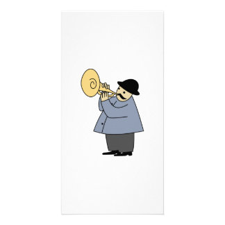 Man Playing a Musical Instrument Picture Card