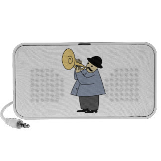 Man Playing a Musical Instrument Travelling Speakers