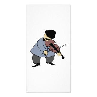Man Playing a Violin Photo Card Template