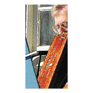 Man Playing Accordion Photo Greeting Card