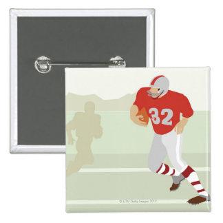 Man playing American football 15 Cm Square Badge