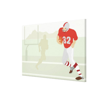 Man playing American football Canvas Print