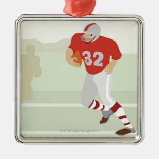 Man playing American football Christmas Ornament