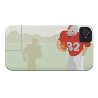Man playing American football iPhone 4 Case