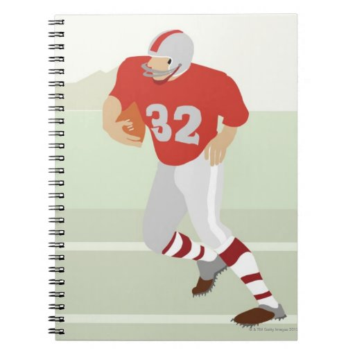 Man playing American football Spiral Note Books